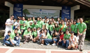 Employees of Otsuka (Philippines) Pharmaceuticals, Inc. were one in supporting the company's drive to helping the environment