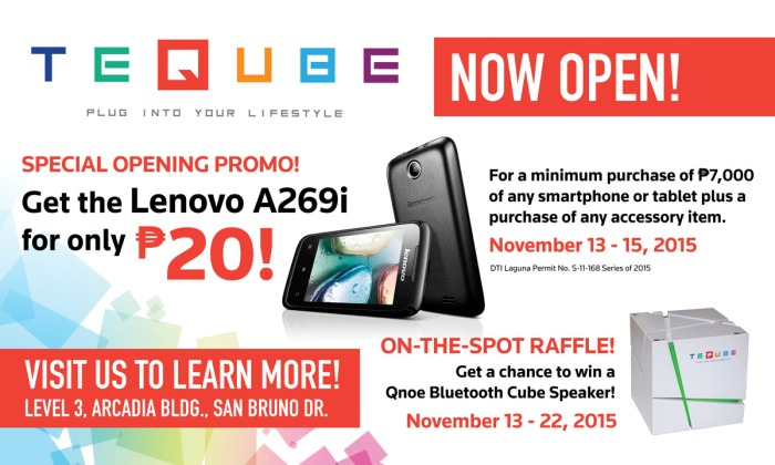 Teqube holds promo for the opening of its store in Sta. Rosa Laguna